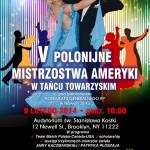 V Polonijne Mistrzostwa Ameryki w Tancu Towarzyskim